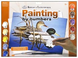 Clearance Royal Paint Artist Acrylic: Royal Paint By Number Kit Large Blue Water Mallards