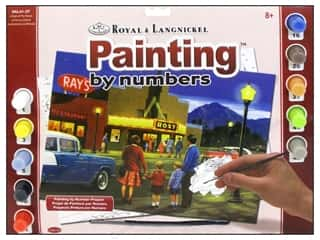 Clearance Royal Paint Artist Acrylic: Royal Paint By Number Kit Large A Night At The Movies