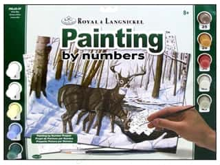 Clearance Royal Paint Artist Acrylic: Royal Paint By Number Kit Large Winter Bliss