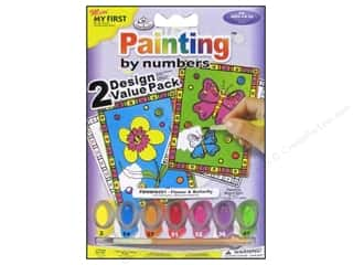 Clearance Royal Paint Artist Acrylic: Royal Paint By Number Kit Flower & Butterfly
