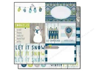 "Pattern $4-$6 Clearance: Simple Stories Snow Fun Collection Paper 12""x 12"" Elements #1 (25 sheets)"