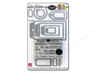 Sizzix Framelits Die Set 9PK with Stamps Tags by Stephanie Barnard