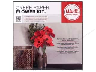 paper red: We R Memory Keepers Crepe Paper Flower Kit Red
