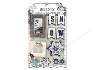 chipboard stickers: Bo Bunny Layered Chipboard Stickers Altitude