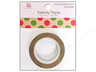 Queen&Co Trendy Tape 10yd Christmas Polka Dot Kraft