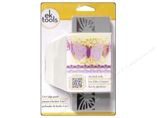 EK Paper Shapers Edger Punch 2 In 1 Striped Butterfly 1 3/4 in.