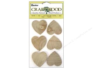 craft & hobbies: Darice Wood Craftwood Heart 1 1/2 in. 7 pc.