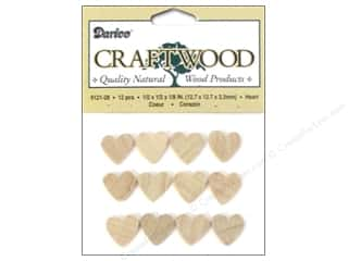 Valentines Day Gifts Baking: Darice Wood Craftwood Heart 1/2 in. 40 pc.