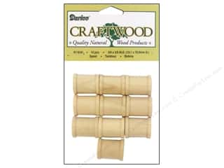 Darice Wood Craftwood Spool 3/4 x 5/8 in. 10 pc.