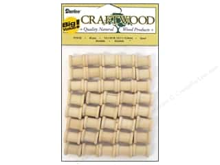 Darice Wood Craftwood Spool 1/2 x 5/8 in. 40 pc.