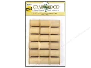 craft & hobbies: Darice Wood Craftwood Spool 1 3/16 x 7/8 in. 18 pc.