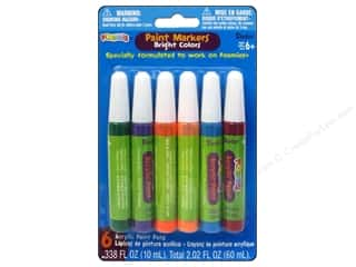 Darice Foamies Paint Marker Set Bright 6pc