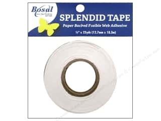 Clearance Riverside Construction Paper: Bosal Splendid Tape Paper Backed Fusible Web 1/2 in. x 25 yd.