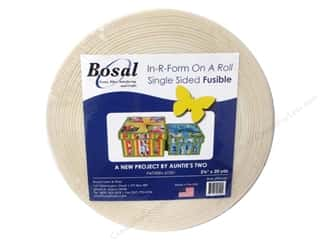 Iron-On Interfacing / Iron-On Stabilizer: Bosal In-R-Form Fusible Foam Stabilizer 2 1/4 in. x 20 yd. White