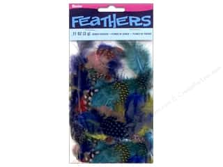 Feathers: Darice Guinea Feathers .11 oz. Assorted Bright Colors