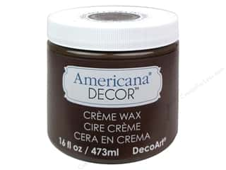 DecoArt Americana Decor Creme Wax 16 oz. Deep Brown
