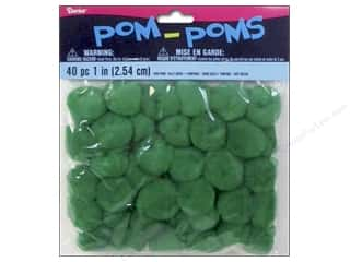 Darice Pom Poms 1 in. (25 mm) Kelly Green 40 pc.