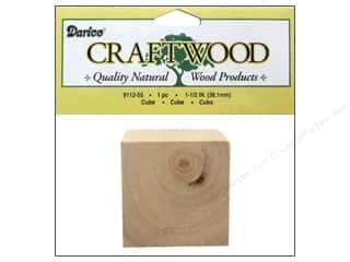 Holiday Sale Paper Mache Ornaments: Darice Wood Craftwood Cube 1 1/2 in. 1 pc.