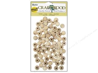 Darice Wood Craftwood Round Bead 1/2 in. 75 pc.