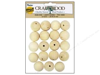 Weekly Specials Beading: Darice Wood Craftwood Round Bead 1 in. 19 pc.