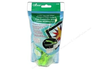 Quilting Clips: Clover Jumbo Wonder Clips 24 pc. Neon Green