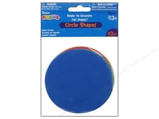 Foamies Foam Circle Shapes 4 in. Value Pack Assorted 12 pc.