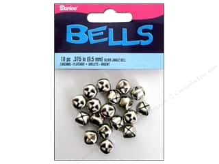 Darice Jingle Bells 3/8 in. Silver 18 pc.