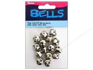 Darice Jingle Bells 1/2 in. Silver 15 pc.