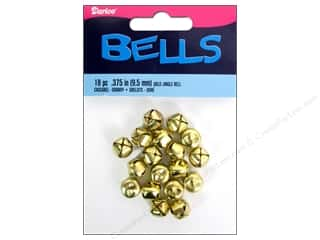 craft & hobbies: Darice Jingle Bells 3/8 in. Gold 18 pc.