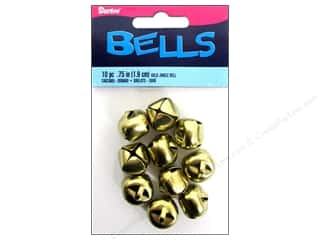 Darice Jingle Bells 3/4 in. Gold 10 pc.