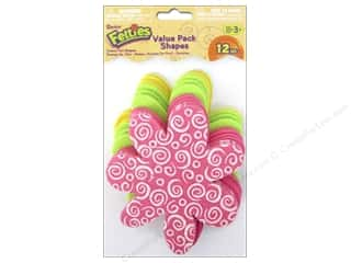 Clearance: Darice Felties Felt Base 12 pc. Flower Value Pack Assorted Color