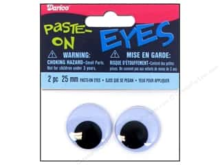 Googly Eyes: Darice Googly Eyes Paste-On 25 mm Black 2 pc.