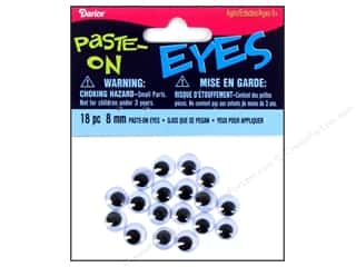 Googly Eyes by Darice Paste-On 8 mm Black 18 pc.