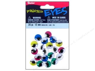 flat eyes: Googly Eyes by Darice Paste-On 12 mm Printed Assorted Color 20 pc.