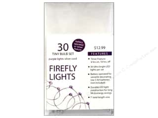 Sierra Pacific Lights Firefly LED 30 ct Purple/Silver Cord