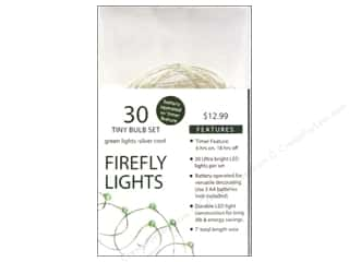 Sierra Pacific Lights Firefly LED 30 ct Green/Silver Cord