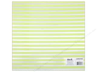 acetate: We R Memory Keepers Acetate Sheet 12 x 12 in. Clearly Bold Neon Green Stripe (12 sheets)