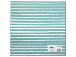 acetate: We R Memory Keepers Acetate Sheet 12 x 12 in. Clearly Bold Neon Teal Stripe (12 sheets)
