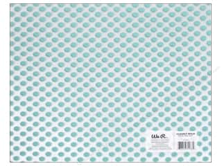 Plastic / Acetate Sheets: We R Memory Keepers Acetate Sheet 12 x 12 in. Clearly Bold Neon Teal Dot (12 sheets)