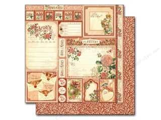 Valentines Day Gifts Stamps: Graphic 45 12 x 12 in. Paper A Time To Flourish Collection Cut Apart February (25 sheets)
