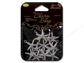 Clearance Sweet Beads: Sweet Beads Charms Metal Starfish 14 pc. Silver