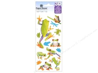Clearance Paper House Magnet: Paper House Sticker Frogs