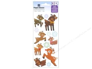 Clearance Paper House Magnet: Paper House Sticker Reindeer