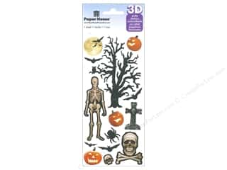 Stickers: Paper House Sticker 3D Puffy Spooky Halloween