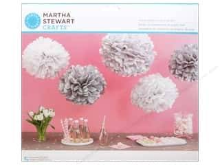 craft & hobbies: Martha Stewart Kit Pom Pom Patterned Silver