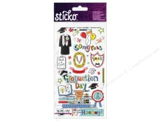 Sticko Dimensional Stickers - Graduation