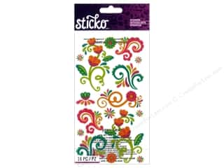 EK Sticko Stickers Bright Flourishes