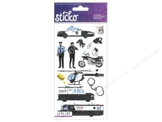 scrapbooking & paper crafts: EK Sticko Stickers Police Officer & Cars