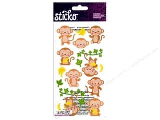 scrapbooking & paper crafts: EK Sticko Stickers Dancing Monkeys