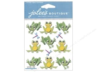 stickers: Jolee's Boutique Stickers Repeat Cutesy Frogs